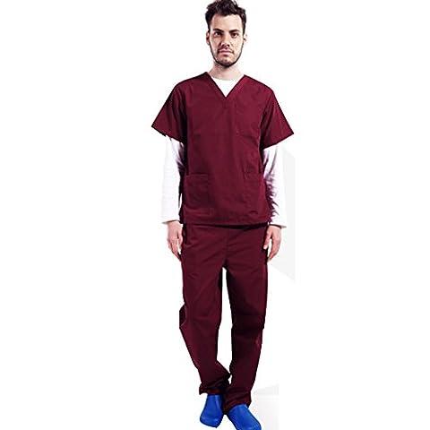 Free Fisher Blouse Vêtement de Travail Homme Blouse + Pantalon Ensemble infemier uniforme salon pour Médecin/Docteur...