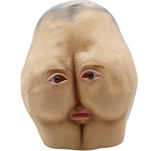 S+S Halloween Horror Latex Lustige Arsch Maske Universal Party Festival Vollgesichts Maskerade Party Party Lustige Maske Kreativen Stil Kleidung Dekoration (Einfache Halloween-kostüme Für Und Kreative Erwachsene)