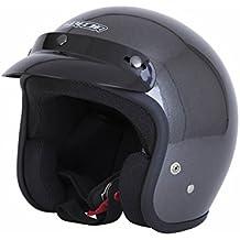 Spada Open Face Motorcycle Helmet XXL Silver