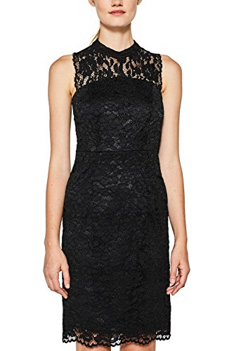 ESPRIT Collection Damen 107EO1E016 Kleid, Schwarz (Black 001), 38