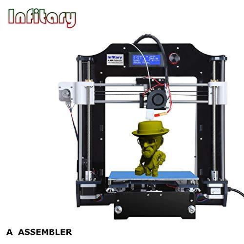 INFITARY - Imprimante 3D à Assembler, Impression FDM, Cadre Acrylique et Métal INFITARY