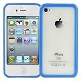 Logotrans Bumper Series Silikon Schutzhülle für Apple iPhone 4 blau