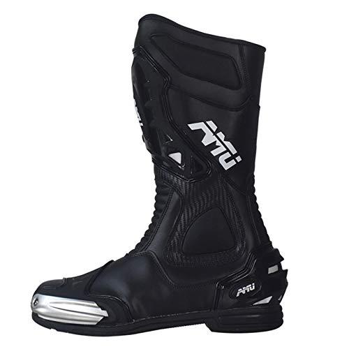 GTYW, Stivali da Motociclista, Nero, Pelle, Lacci, Motociclette, Signore, Stivali, Strade, Motociclette, Stivali,A-45