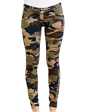 Zojuyozio Mujer Casual Camo Print Skinny Pantalones De Yoga Pantalones De Deportes Tobillo