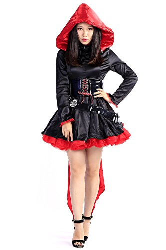 De-Cos Cosplay Costume The Leader Red Ruby Rose Hoodie Outfit Set V1
