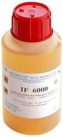 Interflux Flussmittel 6000 kolophoniumbasiert und halogenfrei, 100 ml Flasche, IF6000-001