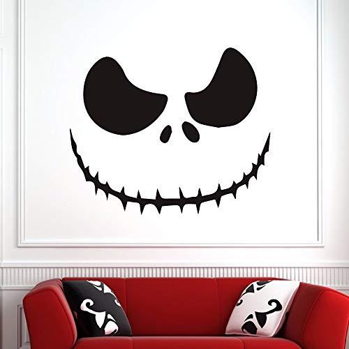 wandaufkleber 3d Wandtattoo Schlafzimmer Gruseliges Gesicht Jacks O Laternen-Halloweens für Wohnzimmer-Festival-Abziehbilder-Schlafzimmer-Feiertags-Aufkleber (Lustige Gesichter Halloween Jack)