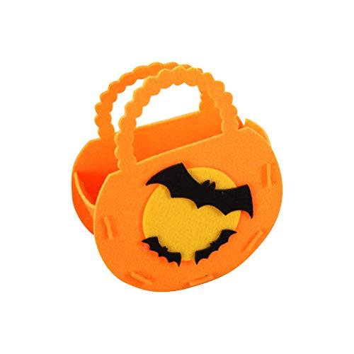 (BESTOYARD Fledermaus Candy Staubbeutel Reinigungstuch Palmtop-Halloween Goodie Geschenk DIY Tote für Kinder orange)