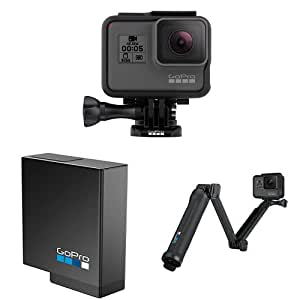 GoPro HERO5 Black Action Camera with Rechargeable Battery and 3 Way Arm
