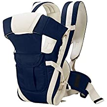 John Richard Adjustable Hands-Free 4-in-1 Baby Carrier Bag/Baby Slings/Back Carriers (Navy Blue) with Waist Belt