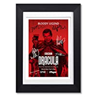 Mounted Gifts Dracula Cast Signed Autograph A4 Poster Photo BBC TV Show Series Season Framed Memorabilia Gift Claes Bang (POSTER ONLY)