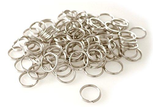 van den Heuvel Schlüsselringe Stahl vernickelt stabil Durchmesser 35 mm (groß) 100 Stück