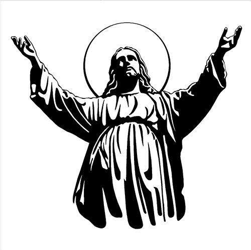 ufkleber Für wohnzimmer Schlafzimmer JESUS   Christus Religiöse Vinyl wandkunst aufkleber Wandbild 57x51 cm ()