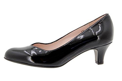 Chaussure femme confort en cuir Piesanto 9225 escarpin confortables amples Noir