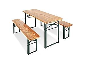 PINOLINO Sepp - Juegos de mobiliario para niños (Banco, Verde, Rectangular Shape, Metal, Madera, Interior, Exterior, 3 año(s))