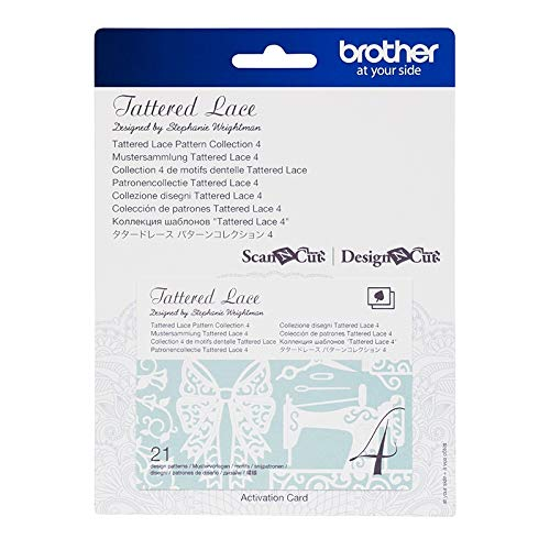 Brother Mustersammlung - Tattered Lace Nr. 4-21 Designs Downloadkarte -