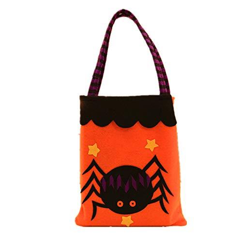 Yzibei Interessant Halloween Dekorationen Handtaschen Arkaden Hotel Kekse Apple Geschenkbeutel (Farbe : Spider)