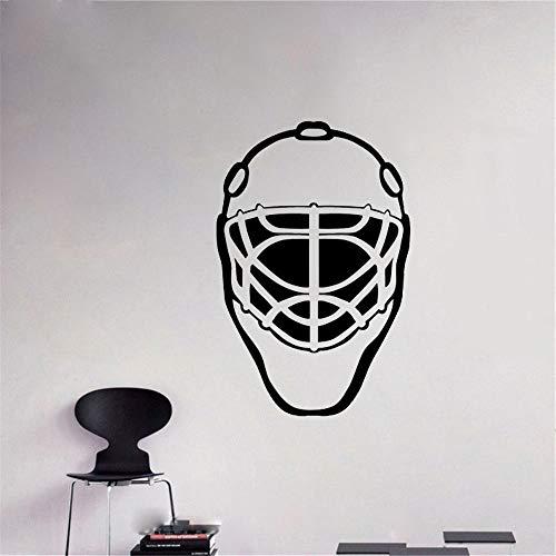Wandtattoo Kinderzimmer Wandtattoo Wohnzimmer Torwart Maske Wall Hockey Game Man Decals Aufkleber für Wohnzimmer Schlafzimmer Jungen Schlafzimmer
