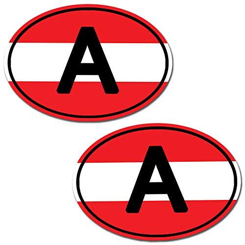 2 Stück Vinyl Österreich Austria Flagge Aufkleber Autoaufkleber Stickers Auto Moto Motorrad Fahrrad Helm Fenster Tuning B 186