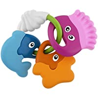 Chicco- Baby Senses - Sea Creatures Teether Jake Peces Sonajeros Mordedores, Multicolor (00005956000000)
