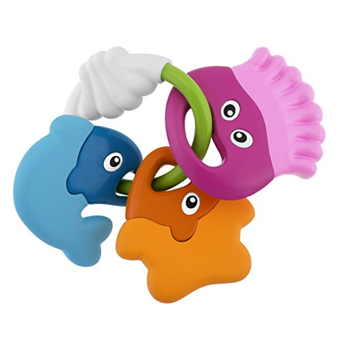 Chicco- Baby Senses-Sea Creatures Teether Jake Peces Sonajeros Mordedores, (00005956000000)