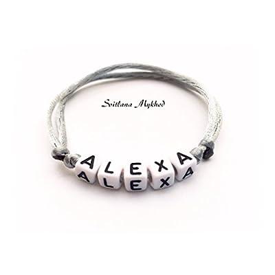 Bracelet ALEXA personnalisé avec prénom (réversible) homme, femme, enfant, bébé, nouveau,né.