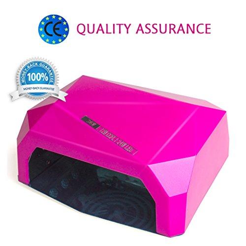 36W Lámpara Secador de Unas Morpilot LED UV Secador de Uñas con Temporizador Tanto para Uso Doméstico y Belleza Profesional Nail Salon + Lima de uñas