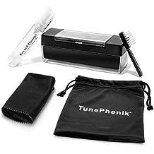 TunePhonik - Cepillo de Terciopelo y Kit de Limpieza de Discos de Vinilo con paño de