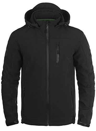 INDICODE Deegan Softshell Jacke, Größe:XXL;Farbe:Black (999) (Schwarze Kapuzen-jacke)