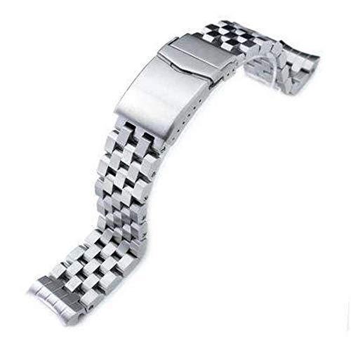 Strapcode Uhrenarmband 20mm Super Engineer II Edelstahl Uhrenarmband für Seiko MM300 Prospex Marinemaster SBDX001, Doppelverschluss mit V-Verschluss