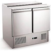 Saladette 257 litros Pizzakühltisch Kühltisch Kühltheke Arbeitstisch 900x700x870 mm