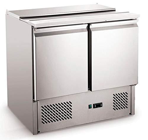 Saladette 257 Liter Pizzatisch Pizzakühltisch Kühltisch Kühltheke Arbeitstisch 900x700x870 mm
