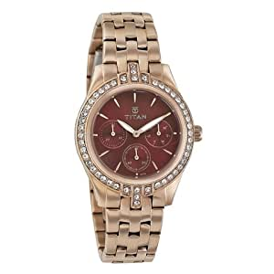 Titan Autumn Winter'15 Analog Red Dial Women's Watch-9968WM01J