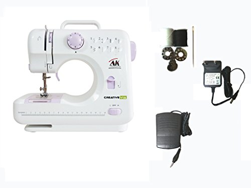 Creativevia Ha-sm02 10 Built-in Stitch Pattens Portable & Compact Multi-functional Electric Sewing Machine