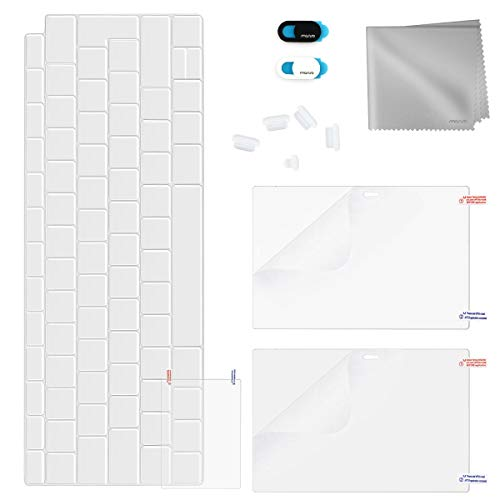 MOSISO Vollschutz Kit Nur Kompatibel 2018 MacBook Air 13 Zoll A1932 with Retina Display, Bildschirm/Trackpad Schutz & TPU Tastaturschutz & Staubstecker & Webcam Anti-Spion Cover & Putztuch