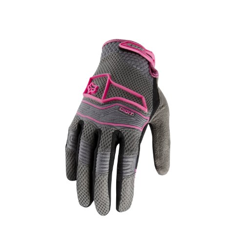 Fox Racing Damen Digit Handschuh, damen, 24106, pink/grau, M (Pink Racing Fox)