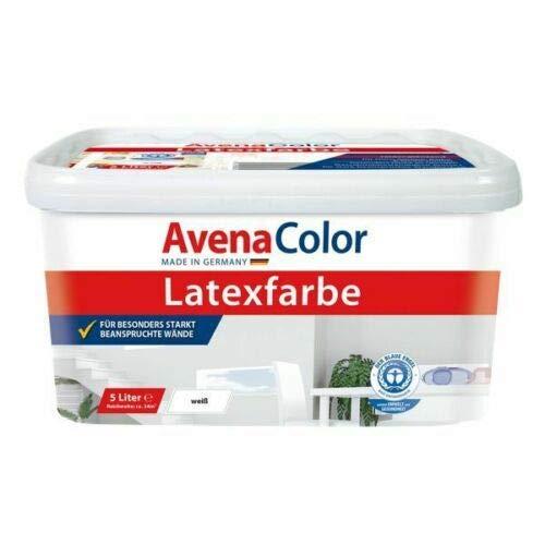 AvenaColor Latex Seidenglanz Innenraumfarbe 5L weiß