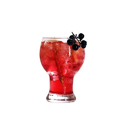 Black Temptation Elegante Goblet Party Gläser Heavy Base Saft Gläser Trinken Wein Cups, A 11