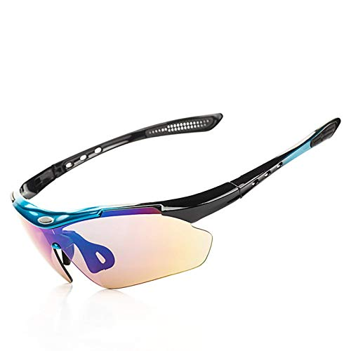 Lafeil Radbrille Wechselgläser Sportsonnenbrille In Sehstärke Herren Damen Herren Outdoor Brille Fahrrad Brille Sportgeräte Polarisierte Brille Sonnenbrille Fünf Stück Blau