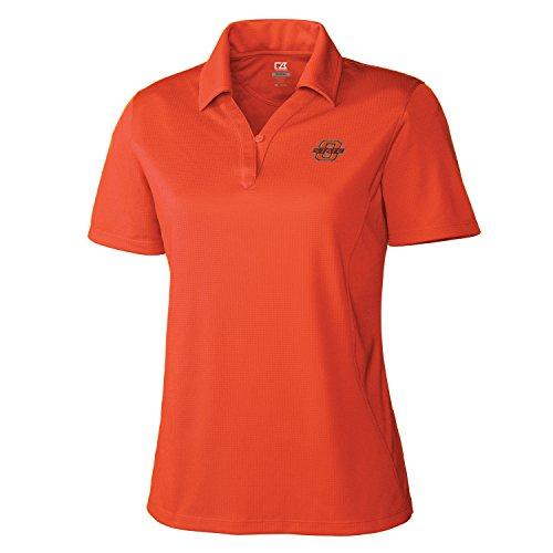 Cutter & Buck NCAA Damen CB Dry Tec Genre Polo, Damen, NCAA Women's CB Dry Tec Genre Polo, College Orange, X-Large