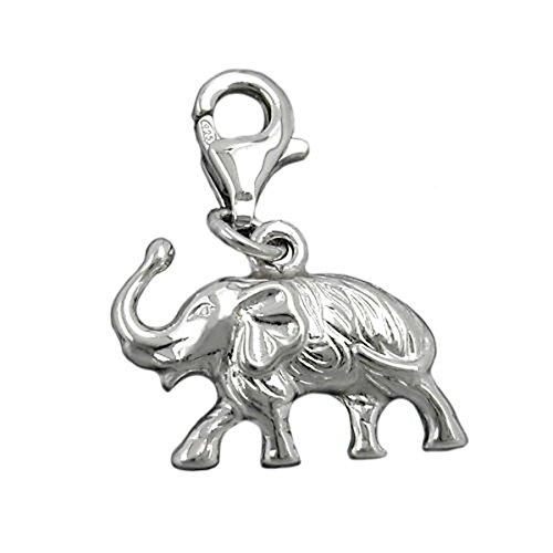 Colgante Charm plata{925} Elefant