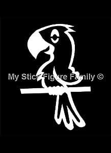 My Stick Figure Family sticker Famille autocollant voiture Oiseaux Perroquet PB1