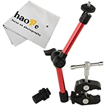 haoge 11inch articular fricción brazo mágico con abrazadera grande cangrejo alicates clip para HDMI monitor LCD luz LED cámara de vídeo DSLR trípode rojo