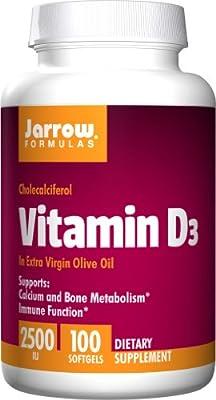 Jarrow Formulas - Vitamin D-3, 2500, 100 softgels from Jarrow Formulas