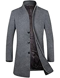 e76815cc2b710 Amazon.it  Cappotto grigio lana - Uomo  Abbigliamento