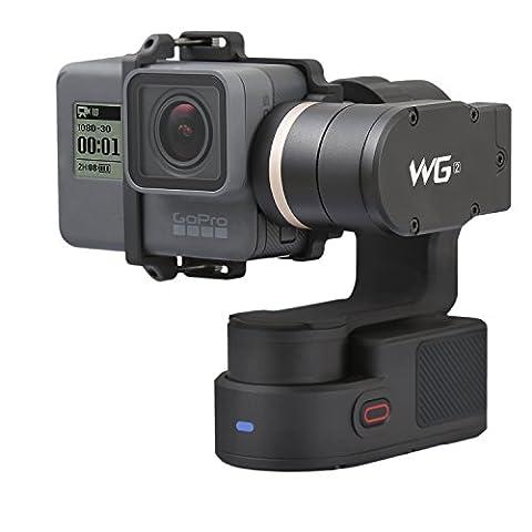 Feiyu Tech wg23-assen-Draagbaar gimbal met nieuwe statief, geschikt voor Action camera GoPro HERO 5, Hero 4, session, Sony RX0,Yi 4K, AEE, sjcam etc. Waterdicht IP67, autorotation, twee Axis Unlimited draaibaar, Bluetooth