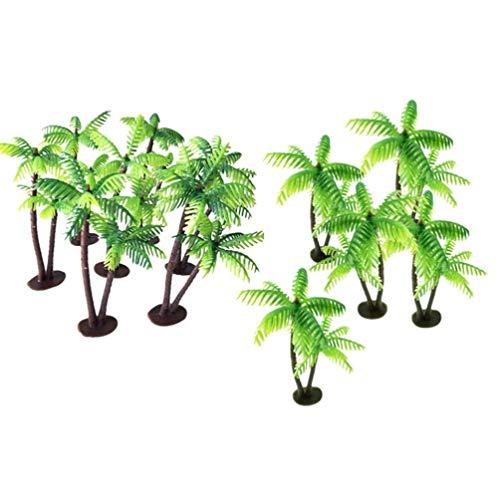 Garneck 12 stücke kunststoff kokospalme miniatur pflanzentöpfe bonsai künstliche pflanze dekoration handwerk mikrolandschaft