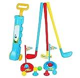 Enfants Golf Cue Jouet Ensemble Extérieur / Indoor Ball Sports Boy Simulation Jouets-14 PCS...