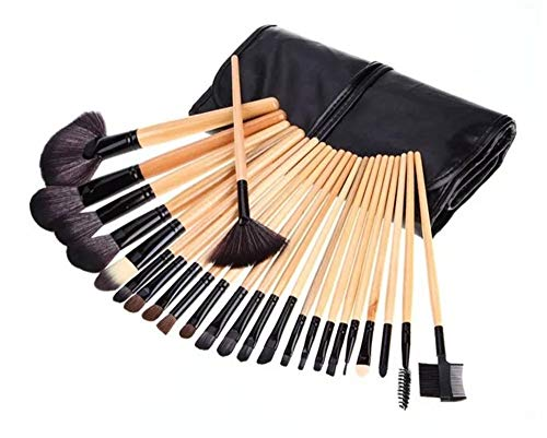 Beauty Tools Set 24 Make-up Pinsel Lidschattenpinsel Rougepinsel, Holzfarbe, Brushes with Soft