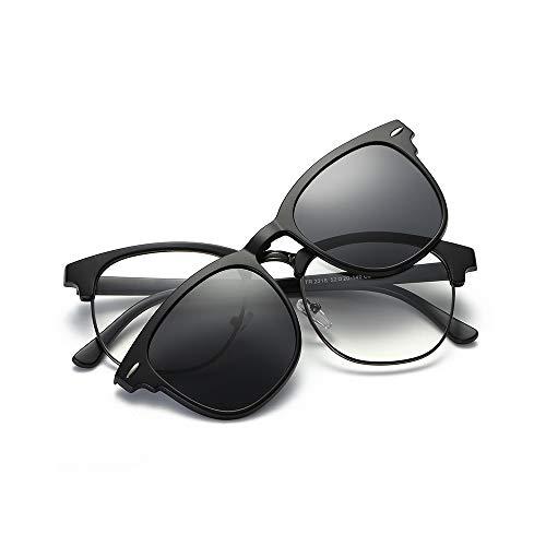 Zbertx Polarisierte Sonnenbrille Unisex Clip auf Sonnenbrille Vintage Designer Sonnenbrille Mann Frau Retro, c1
